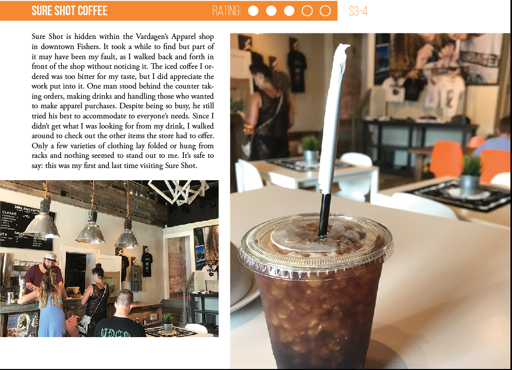 A Coffee Break: With the reopening of the Carmel Cafe, the HiLite reviewed  other cafes around the area for when students aren't at school