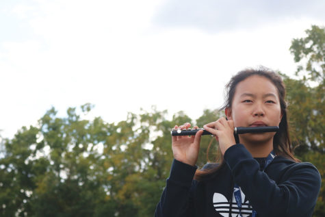 Fresh Flute: Freshman Connie Zhang participates in Wind Symphony I.