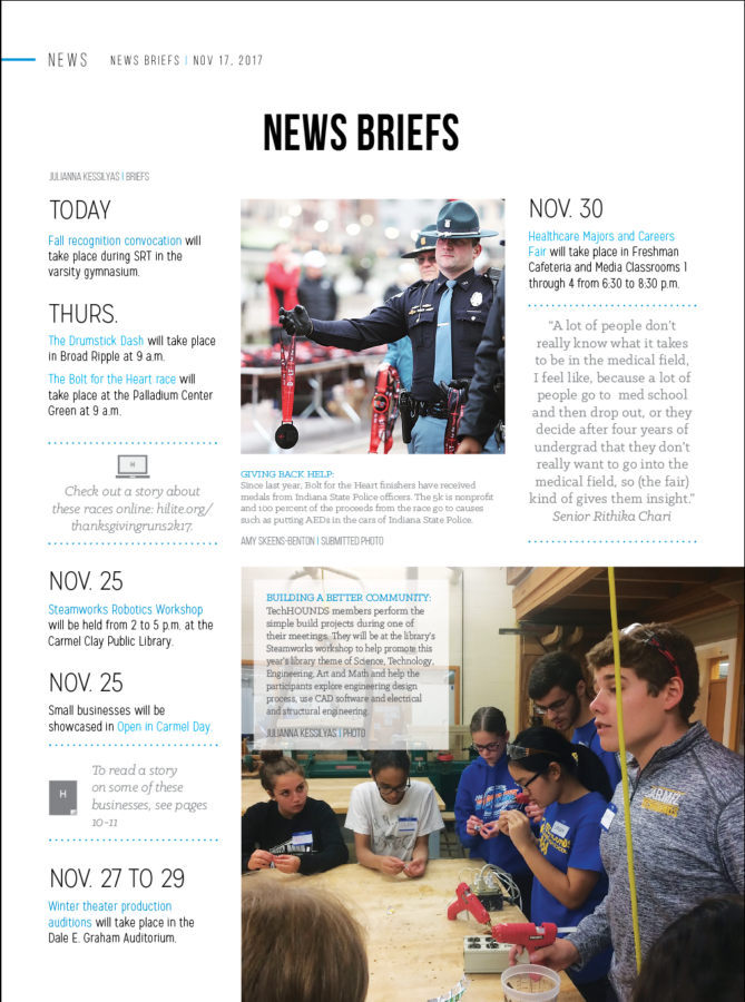 News Briefs, Club Spotlight 11/17