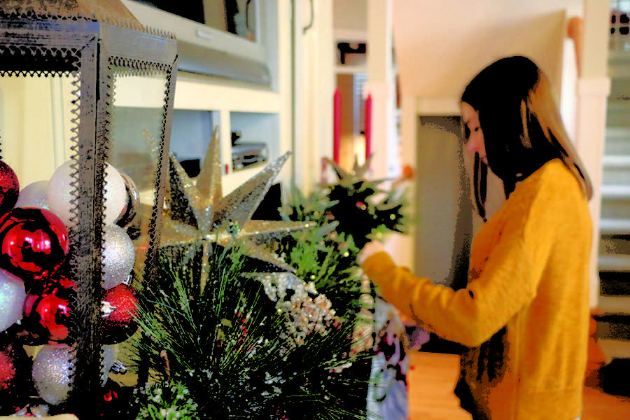 o christmas tree students put up christmas decorations not necessarily for religious aspect