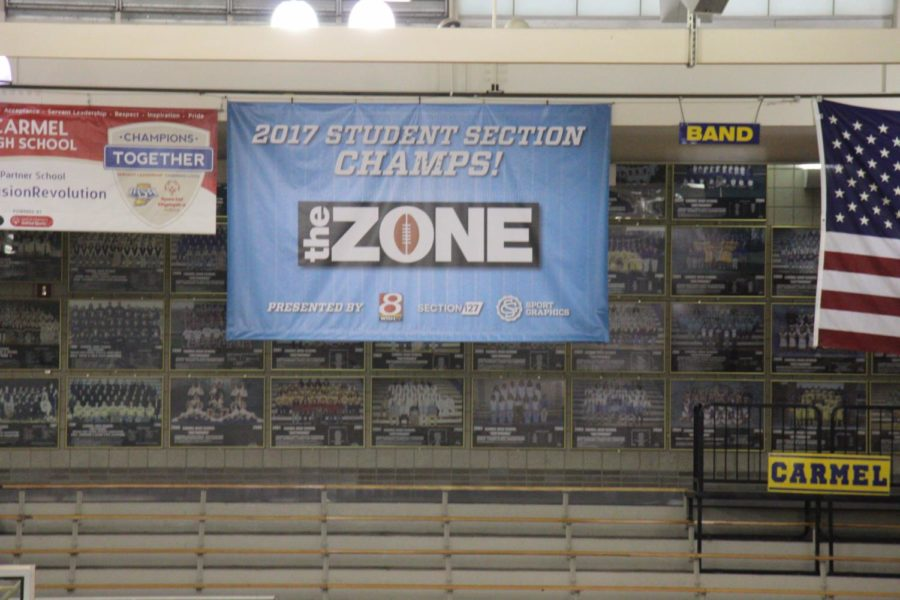 The+banner+that+the+Greyhound+Nation+Executive+Board+made+hangs+in+the+varsity+gym.+This+banner+is+just+one+of+many+projects.