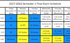 Semester 1 Finals Schedule 2017-2018