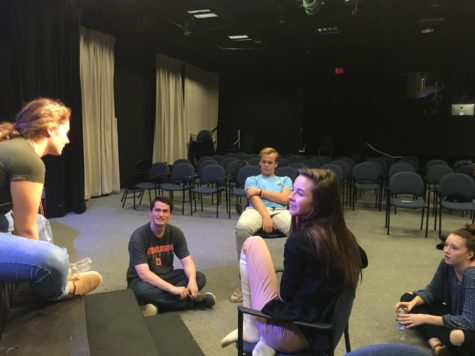 "Theater productions rehearses for winter production ""Peter and the Starcatcher"""