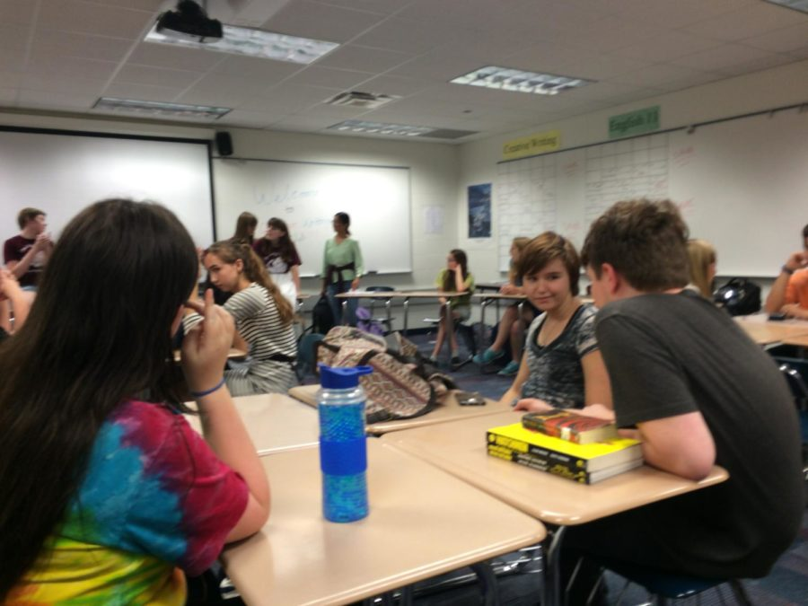 Creative Writing Club is discussing club participation in the annual Creative Writing Contest.