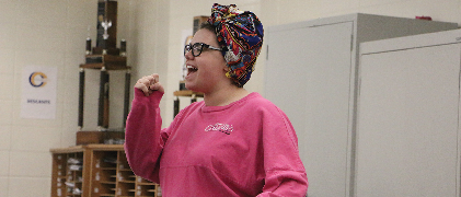"""Brooke Sullivan, Select Sound member and senior, sings her part. Select Sound was only recently considered a """"real choir."""""""