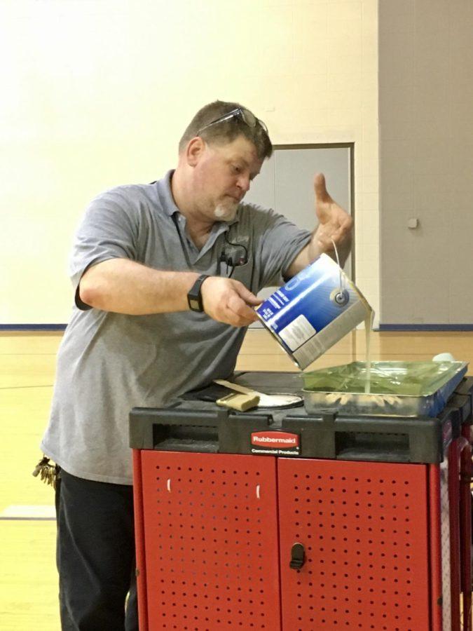 Maintenance staff to repaint part of freshman gym