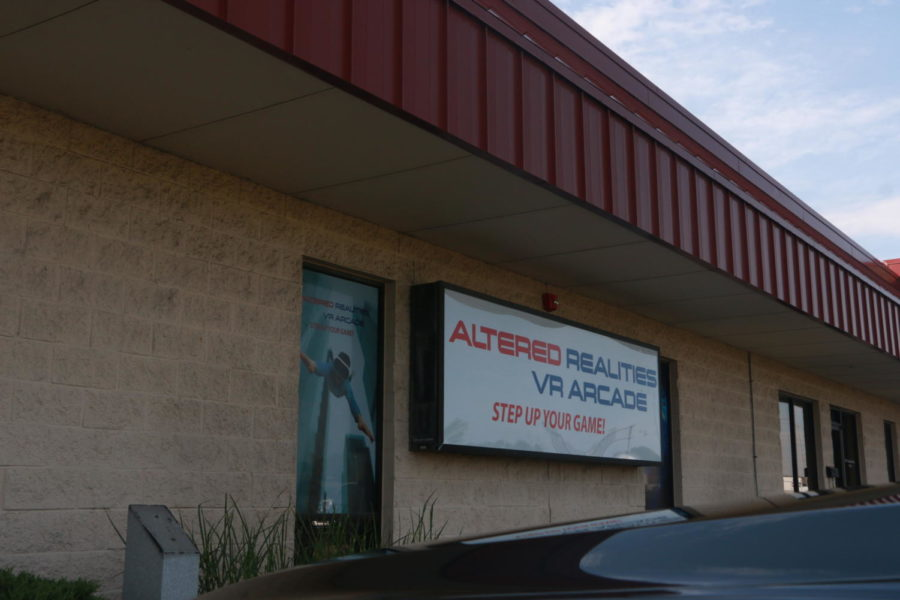 This is the exterior of Altered Realities VR Arcade. The arcade is located on 8455 Castlewood Drive.