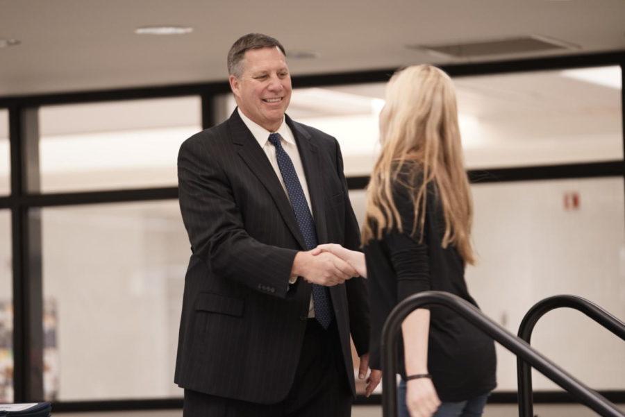 Principal Tom Harmas prepares for next school year