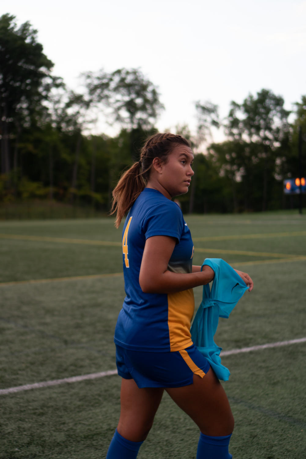 CHS soccer player and senior Kate Donovan prepares to get ready for her soccer game against Lawrence North. Donovan is a team captain. Donovan said,