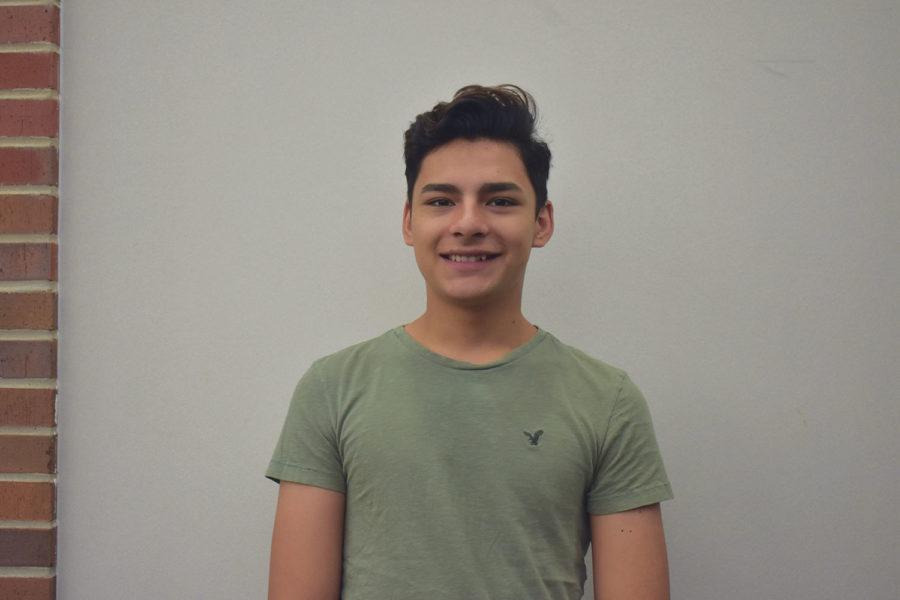 Senior Joey Gutierrez