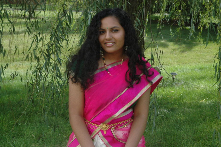 Junior Neharika Palivela wears traditional Indian clothing. She said it brings her closer to her culture.