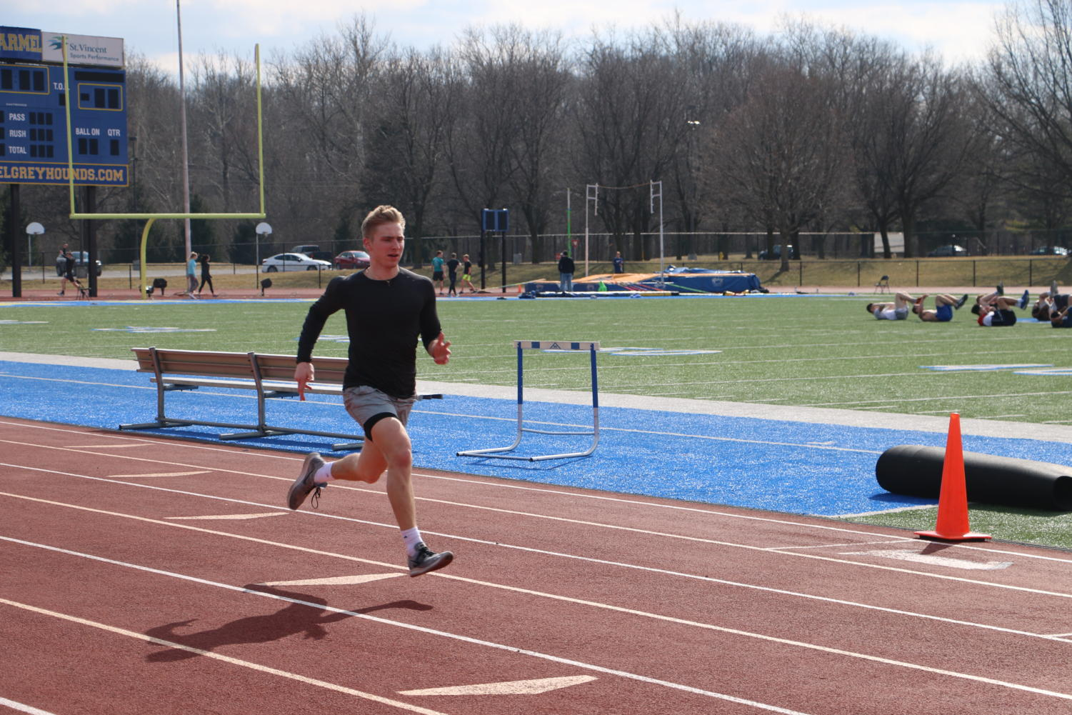 Men%27s+Track+and+Field%3A%0ASamuel+%28Sam%29+Rogers%2C+men%27s+track+runner+and+senior%2C+completes+a+sprint+during+practice+on+March+19.+The+team%27s+next+contest+will+take+them+to+Indiana+University+on+March+23%2C+where+they+will+compete+in+the+Hoosier+State+Relay+Finals.