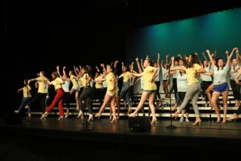 Accents rehearse for upcoming Holiday Spectacular amidst preparation for competition season