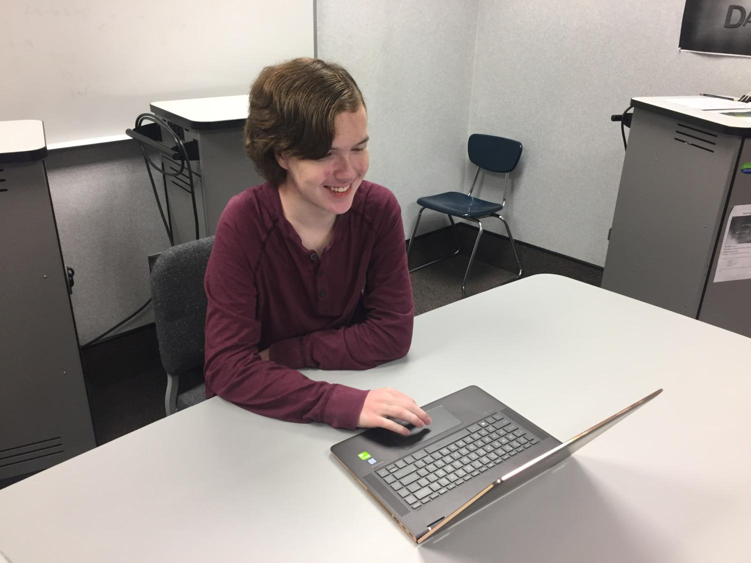 Math department chair Jacinda Sohalski quietly works at her desk. In the next few weeks, she will be working with teachers to implement new courses.
