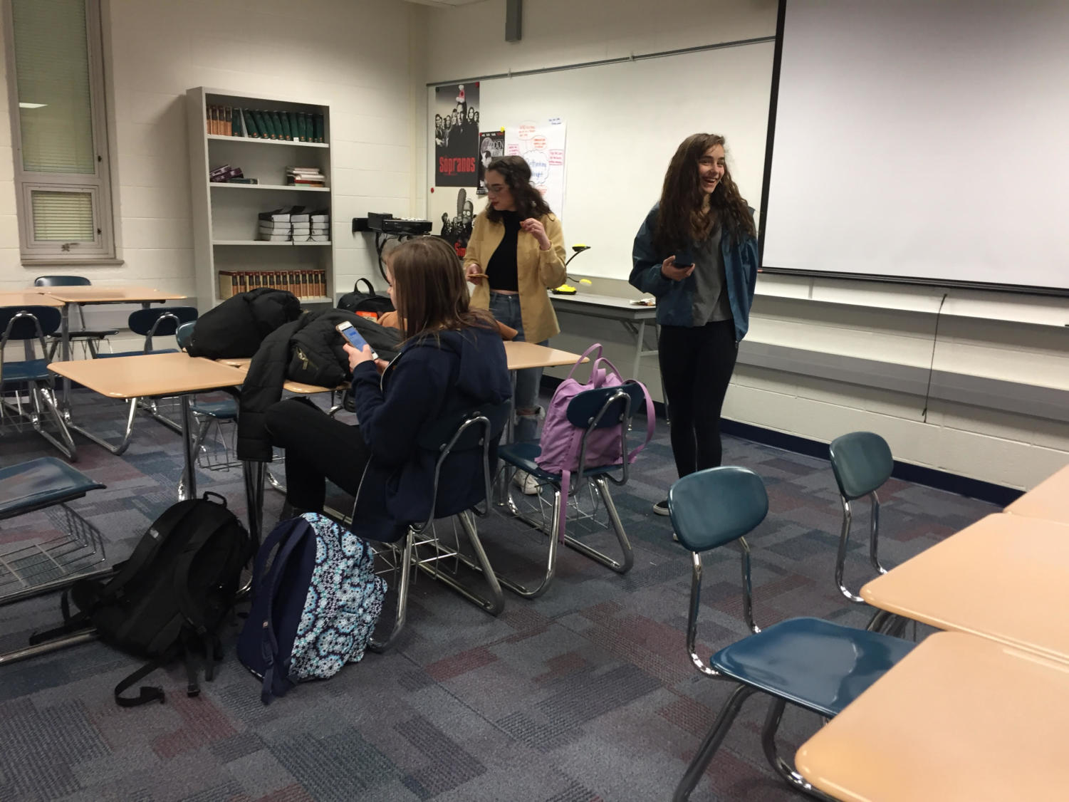 Teens with a Choice members attend a meeting. The club plans to host multiple series of a sexual education talk.