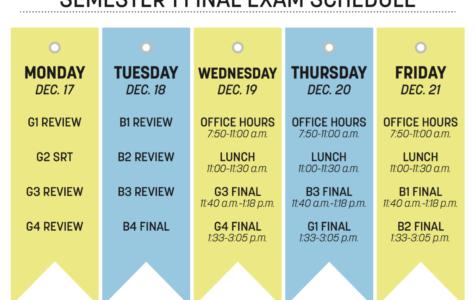 Semester 1 Final Exam Schedule