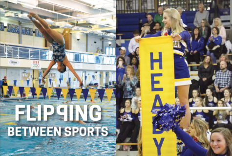 Flipping Between Sports: Cheerleading, diving teams use similar  skills; CHS athletes participate in both