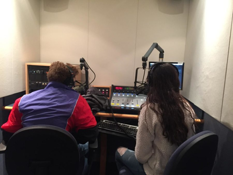 WHJE students work on their broadcasts.