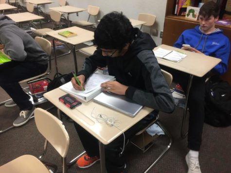 Abinay Devarakonda studies math during SRT. Devarakonda said he is excited for what's to come in Key Club.