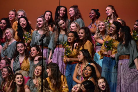 Accents perform a song at the Center Grove High School competition this past weekend. The Accents swept the competition and will be traveling to Ohio this upcoming Saturday for another competition.