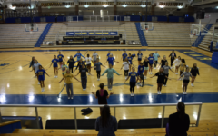 Winter Cheerleading to support the women's basketball team as they compete in regionals on Feb. 9
