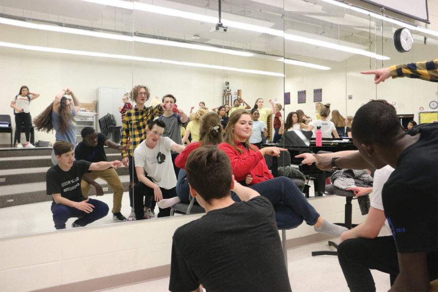 New Edition rehearses after school as competitions approach next week. Sam Chenoweth, associate director of choirs, said time management becomes crucial during competition season and prepares members well for the future.