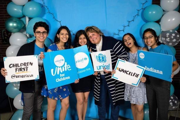 Carmel+UNICEF%E2%80%99s+2018-2019+officers+and+sponsor+pose+for+a+picture+from+the+2019+UNICEF+Charity+Ball.+Club+co-president+Viha+Bynagari+said+she+hopes+Carmel+UNICEF+will+be+able+to+raise+at+least+%241000+by+the+end+of+the+2019-2020+school+year%2C+whether+from+another+charity+ball+or+other+events+such+as+booths+at+Homecoming%2C+where+club+members+will+be+selling+boba.+From+left+to+right%3A+Ayman+Bolad%2C+Riya+Chinni%2C+Muskaan+Ramchandani%2C+Jill+Noel%2C+Shubhi+Sinha%2C+Viha+Bynagari+%5Bsubmitted+photo+from+Carmel+UNICEF%5D