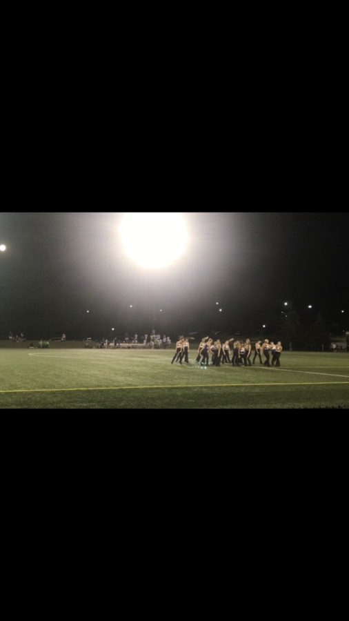 "Charisma performs at men and girls' soccer games. They performed at the ""Make Good Decisions"" soccer game on Sept. 13.  ""I am so excited for all of our performances this season,"" said Charisma dancer and senior Avery Iverson."