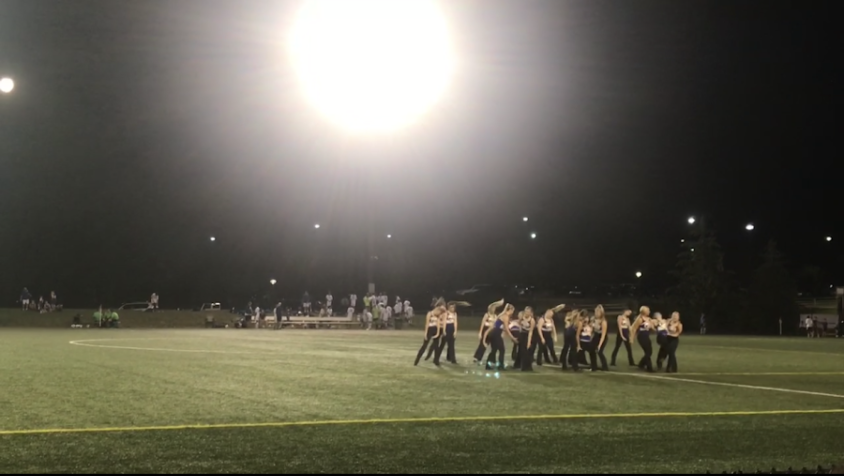 """Charisma performs at men and girls' soccer games. They performed at the """"Make Good Decisions"""" soccer game on Sept. 13.  """"I am so excited for all of our performances this season,"""" said Charisma dancer and senior Avery Iverson."""