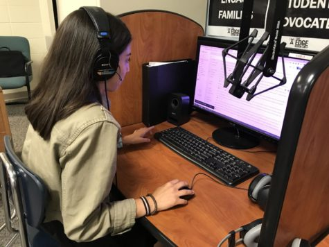 Paige Ohrvall, promos manager and senior works on a spreadsheet containing information about the radio segments. She said,