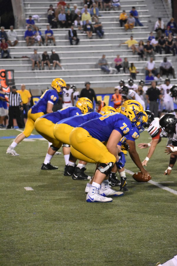 IN THE TRENCHES: Head coach John Hebert praised the offensive line for their consistency, noting that the line is the base of both the passing and running game.