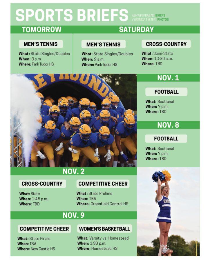 Both the football team and competitive cheer are chasing state championships next month.