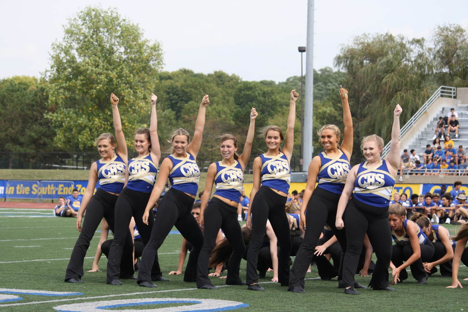 """The Charisma dance team performs at the 2019 Homecoming Pep Rally. The Pep Rally performance was the final performance of the season. """"I really enjoyed my last season on Charisma this year,"""" said Avery Iverson, two-year club member and senior.."""