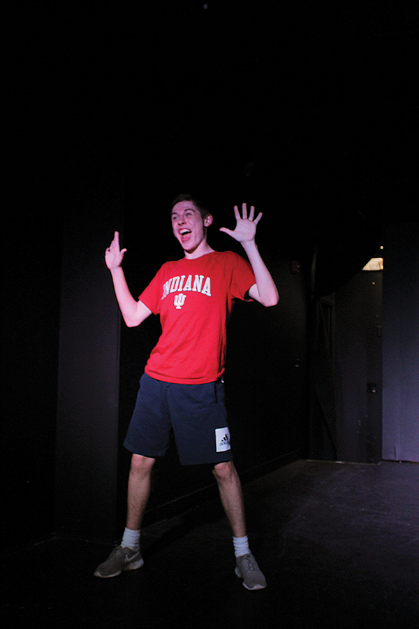 Junior Jack Sandifer practices dances from other groups performing in the upcoming Carmel Spectrum Players Cabaret. He grew up in choir and performed in numerous musicals.