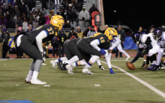 Lined Up: Ty Wise, varsity football player (number 37), IU commit and senior plays outside linebacker at the Semi-State game on Nov. 22. Wise said he likes the rule change.