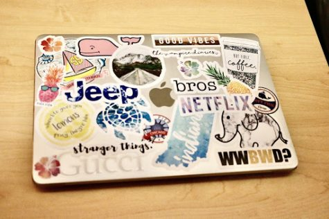 With growing trend of covering laptops, water bottles with stickers, take a look at students' decorations