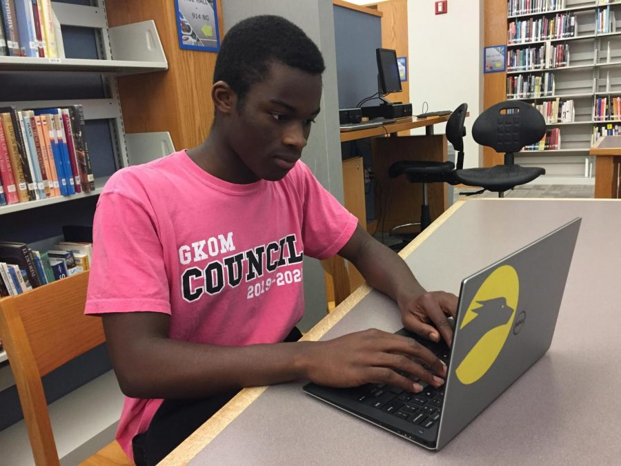 Senior Osamudiamen (Osas) Ogbeide views college websites. Ogbeide said college campus safety is important for all students to know about.