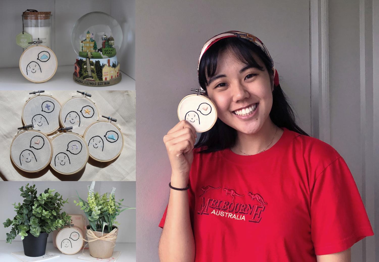 Senior Jaehee Kim starts embroidery business to pass time during quarantine