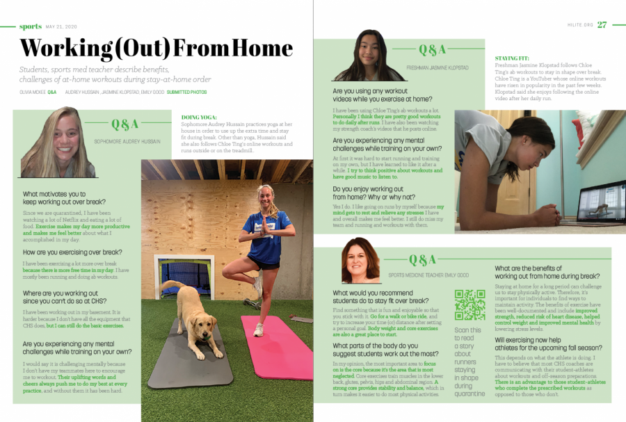 Students, sports med teacher describe benefits, challenges of at-home workouts during stay-at-home order