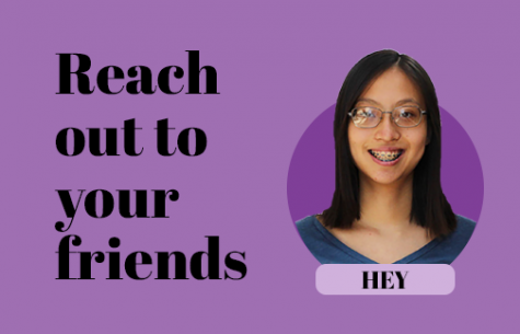 Students should actively reach out to friends through virtual platforms despite increased physical distancing