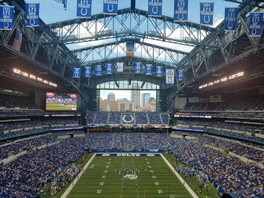 Theres nothing like home-field advantage, even in COVID times. (https://commons.wikimedia.org/wiki/File:Lucas_Oil_Stadium_preseason_Colts_game.jpg#globalusage) (CC BY-SA 4.0)
