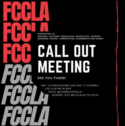 FCCLA shares a post on Instagram outlining the details for the start of the club and the call-out meetings. Marissa Cheslock, student leader of FCCLA and senior, said the club's biggest change has been switching to two bimonthly meetings to account for the hybrid schedule and ensure space for social distancing.