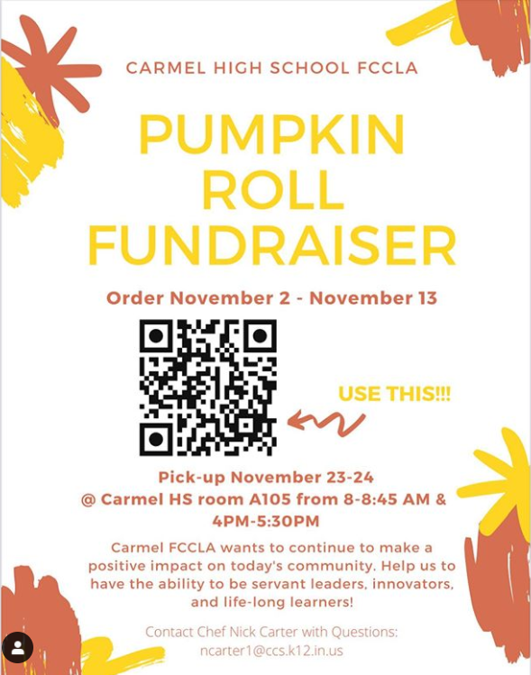 FCCLA shared a post on Instagram with students preparing for new activities like their Pumpkin Roll Fundraiser. The fundraiser will have pumpkin rolls for sale until Nov. 13 and all proceeds will go towards supporting the club's activities and competitions.