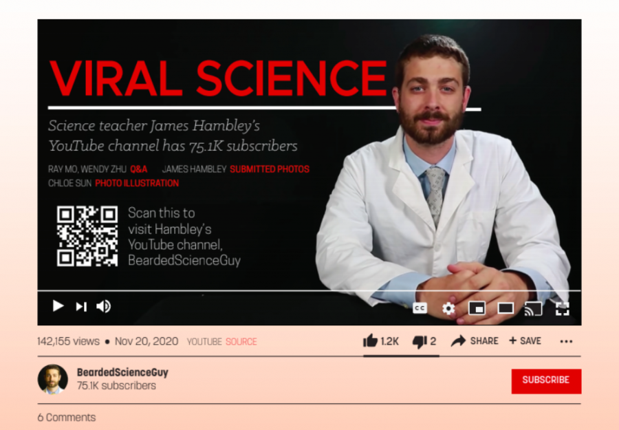 Q&A with science teacher James Hambley on YouTube channel with over 75k subscribers