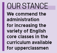 Staff Editorial: CHS has replaced English 11 with variety of new  English course options, providing students with opportunities
