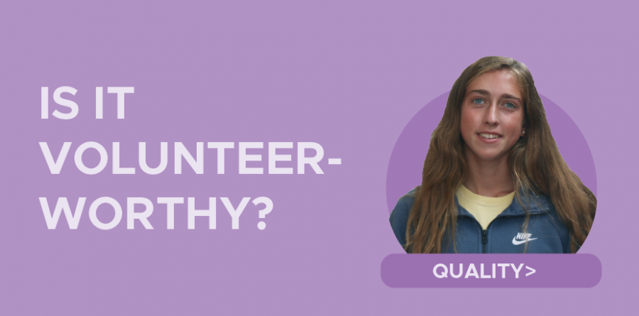 Students should rethink values for volunteering, restore purpose over prestige when gaining service hours