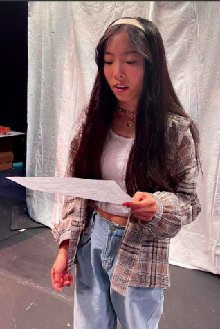 Junior Aleen Zhao practices her lines. She said while she thinks progress with representation has been made, there is still a long way to go.