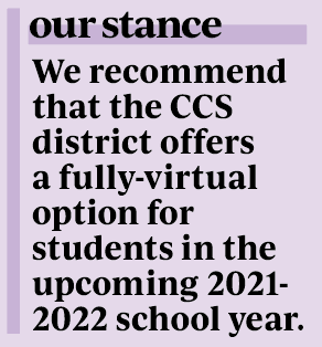As CHS is not requiring vaccinations for eligible students and staff, it should offer a fully-virtual option for students