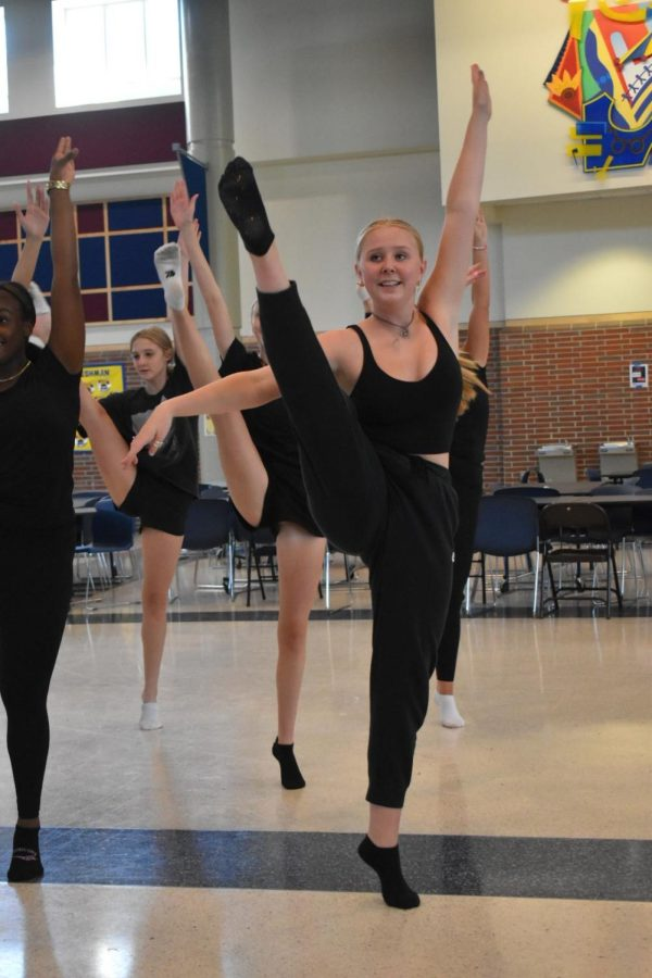 The Charisma Dance Team prepares for the upcoming season after school on September 2, 2021. This past year, the team performed all around the state at girls and boys varsity soccer games.