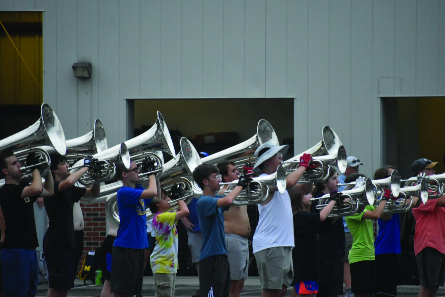 Marching band working to get less experienced members ready for in-person competitions, halftime performances